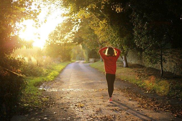 women keeping fit by walking